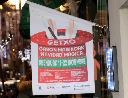 La Magia de la Navidad llega a Getxo, acción de street Marketing